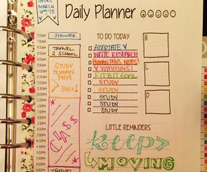 planner, study, and studyblr image