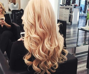 hair, blonde, and beautiful image