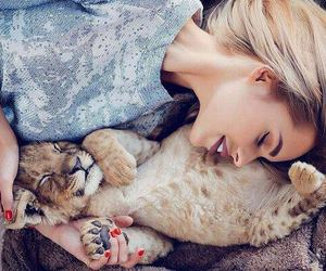 animal, girl, and cute image