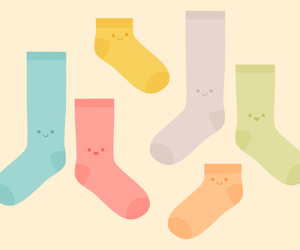 kawaii, cute, and socks image