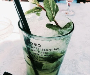 drink, mojito, and green image