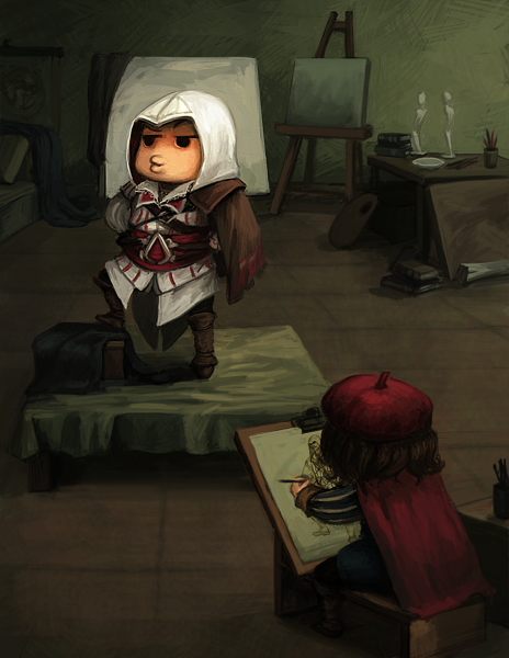 Voodoo Mama Assassin S Creed Ii Silly Fanart Leo Davinci Drawing
