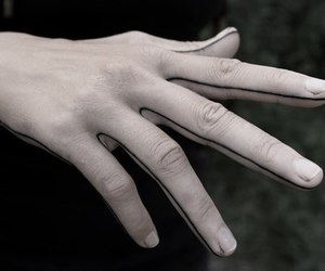 hand, pale, and tattoo image