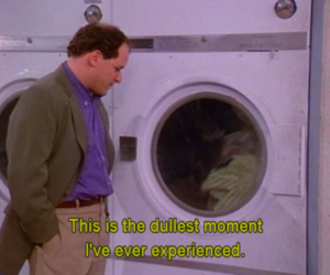 dull, seinfeld, and george image