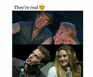 divergent, couple, and movie image