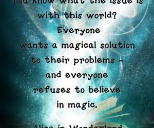 alice, wonderland, and believe image