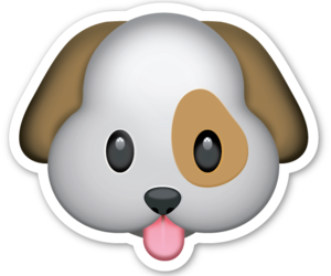 dog, emoji, and png image