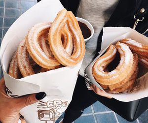 food, churros, and yummy image