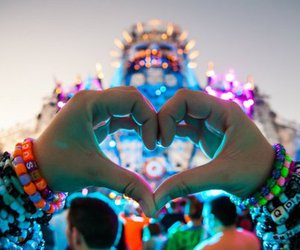 heart, music, and Tomorrowland image
