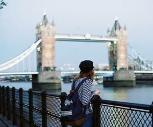 london, girl, and city image