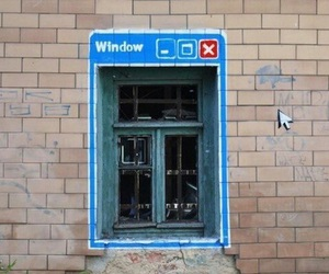 window, funny, and art image