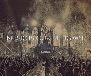 music, religion, and Tomorrowland image