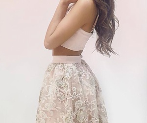 pink, girly, and skirt image