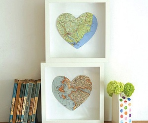 diy, map, and heart image