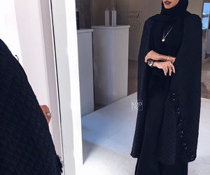 hijab stylish and abaya and hijab image