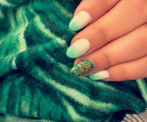 glitter, green, and nails image