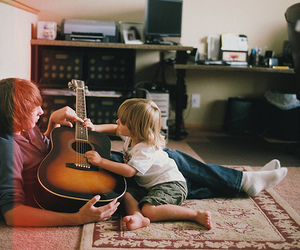 beautiful, child, and guitar image