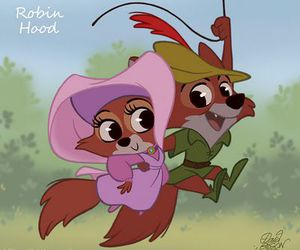 robin hood, disney, and fox image