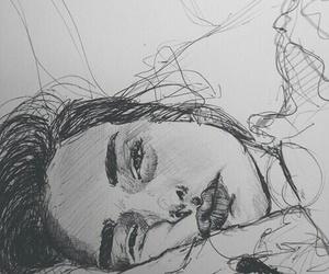 draw, mood, and georgous image