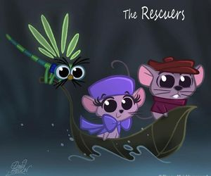 disney, the rescuers, and chibi image
