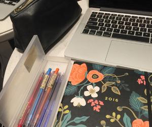 desk, motivation, and notes image