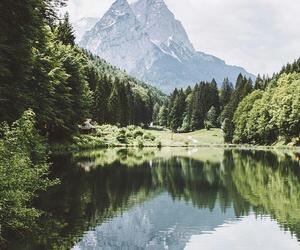 lake and mountain image