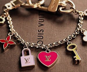 Louis Vuitton, bracelet, and heart image