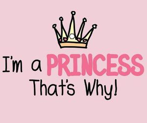 princess, pink, and quote image