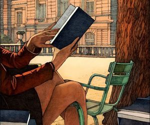 book, art, and girl image