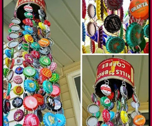 Bottle caps, recycling, and repurposing image