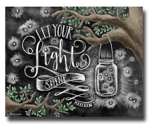 chalk art, etsy, and let your light shine image