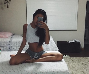 fitness, workout, and crop top image