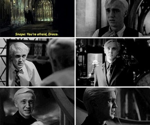 draco malfoy, slytherin, and harry potter image