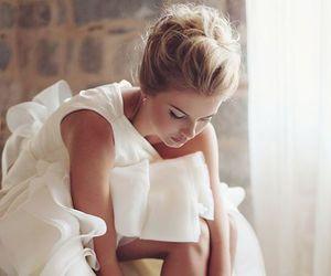 bride, messy, and wedding image