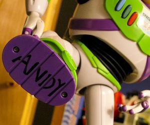 toy story, andy, and buzz image