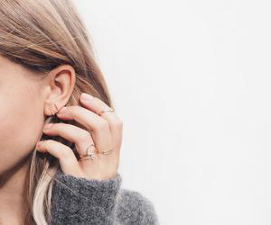 fashion, rings, and hair image