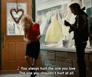 hurt, movie, and blue valentine image