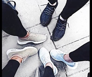 clothes, sneakers, and workout shoes image