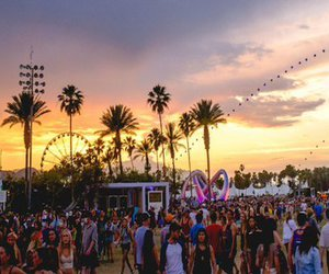coachella, festival, and sunset image
