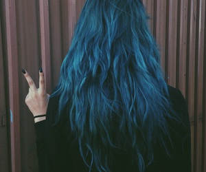 blue, blue hair, and tb image