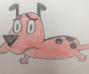 cartoon network, dog, and courage the cowardly dog image