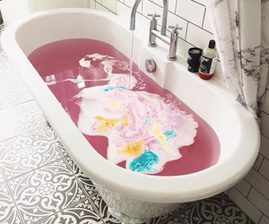 bath and pink image