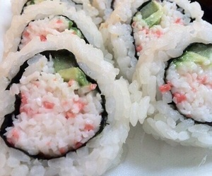 sushi, food, and pastel image