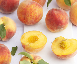peach and food image
