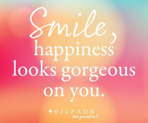 quote, smile, and happiness image