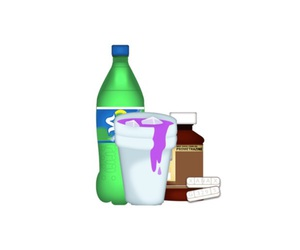 7up, purple rain, and cough syrup image