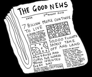 news, good, and newspaper image