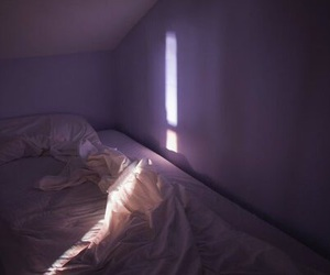 bed, light, and grunge image