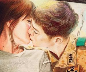 kiss, kdrama, and asian image