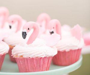cupcake, flamingo, and food image
